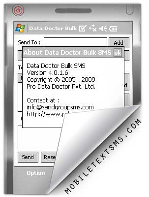 Pocket pc SMS Software screenshot